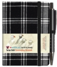 Waverley S.T. (S): Black & White Mini with Pen Pocket Genuine Tartan Cloth Commonplace Notebook - Book