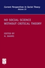 No Social Science without Critical Theory - eBook