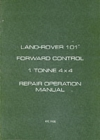 Land Rover Military 101 1 Tonne Workshop Manual - Book