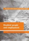 Disabled people and employment : A review of research and development work - Book