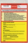VHF DSC Mayday Procedure Card - Book