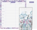 Pocket Diary 2021 & Meal Planner Set : Beautiful Pocket Diary with pen and elastic pen holder plus Meal Planner Pad with perforated shopping list - Book