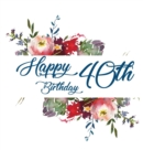 Happy 40th Birthday Guest Book (Hardcover) : Memory book, guest book, birthday and party decor - Book