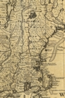 A new and accurate map of NJ, PA, NY and New England, with the adjacent countries : A Poetose Notebook / Journal / Diary - LINED PAGES (100 pages/50 sheets) - Book