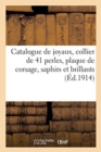 Catalogue de joyaux, collier de 41 perles, plaque de corsage, saphirs et brillants, collier-riviere - Book