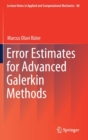 Error Estimates for Advanced Galerkin Methods - Book