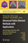 Advanced Finite Element Methods with Applications : Selected Papers from the 30th Chemnitz Finite Element Symposium 2017 - Book