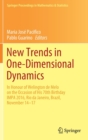 New Trends in One-Dimensional Dynamics : In Honour of Welington de Melo on the Occasion of His 70th Birthday IMPA 2016, Rio de Janeiro, Brazil, November 14-17 - Book