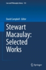 Stewart Macaulay: Selected Works - eBook