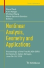 Nonlinear Analysis, Geometry and Applications : Proceedings of the First NLAGA-BIRS Symposium, Dakar, Senegal, June 24-28, 2019 - eBook