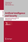 Artificial Intelligence and Security : 6th International Conference, ICAIS 2020, Hohhot, China, July 17-20, 2020, Proceedings, Part II - Book