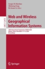 Web and Wireless Geographical Information Systems : 18th International Symposium, W2GIS 2020, Wuhan, China, November 13-14, 2020, Proceedings - eBook
