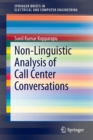 Non-Linguistic Analysis of Call Center Conversations - Book