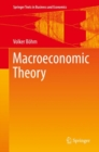 Macroeconomic Theory - Book