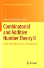 Combinatorial and Additive Number Theory II : CANT, New York, NY, USA, 2015 and 2016 - Book