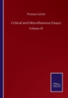 Critical and Miscellaneous Essays : Volume III - Book