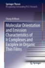 Molecular Orientation and Emission Characteristics of Ir Complexes and Exciplex in Organic Thin Films - Book