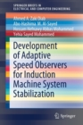 Development of Adaptive Speed Observers for Induction Machine System Stabilization - Book