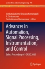Advances in Automation, Signal Processing, Instrumentation, and Control : Select Proceedings of i-CASIC 2020 - eBook
