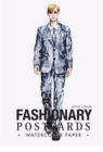Fashionary Watercolor Postcards (Mens Figure Templates) - Book