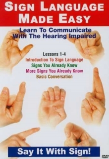 Sign Language Made Easy: Lessons 1-4, DVD  DVD