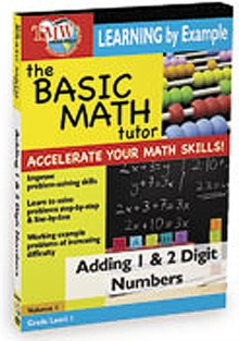 The Basic Math Tutor: Adding 1 and 2 Digit Numbers, DVD DVD