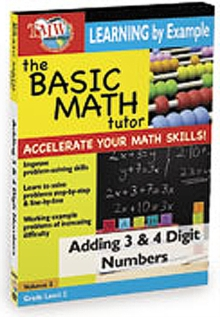 The Basic Math Tutor: Adding 3 and 4 Digit Numbers, DVD DVD
