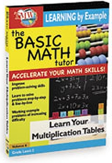 The Basic Math Tutor: Learn Your Multiplication Tables, DVD DVD