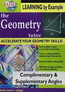 Geometry Tutor: Complimentary and Supplementary Angles, DVD  DVD