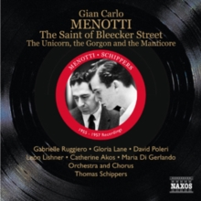 Gian Carlo Menotti: The Saint of Bleecker Street, CD / Album Cd