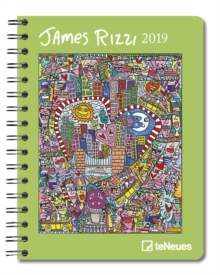 2019 JAMES RIZZI DELUXE DIARY 165 X 216,  Book