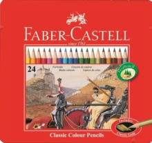 Faber Castell Colouring Pencils Tin of 24,  Book