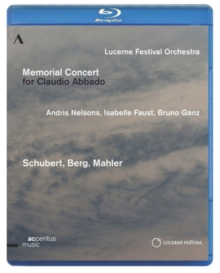 Memorial Concert for Claudio Abbado, Blu-ray BluRay