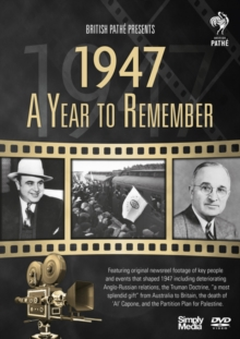 A   Year to Remember: 1947, DVD DVD
