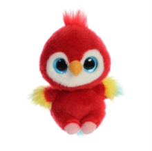 Lora Scarlet Macaw 5 Inch Soft Toy,  Book