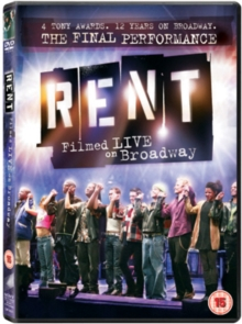 Rent: The Final Performance - Filmed Live On Broadway, DVD  DVD