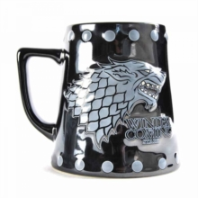 GoT - Stark 'stud relief' Large Tankard Mug, Toy Book