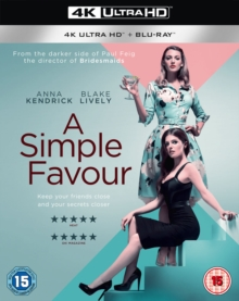 A   Simple Favour, Blu-ray BluRay