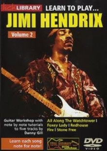 Lick library: Learn to play Jimi Hnedrix vol 2, DVD DVD