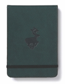 Dingbats A6+ Wildlife Green Deer Reporter Notebook - Graphed, Paperback Book