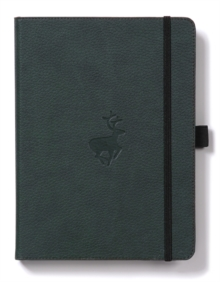 Dingbats A5+ Wildlife Green Deer Notebook - Dotted, Paperback Book