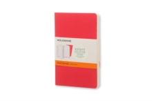 Moleskine Pocket Volant Geranium Red/Scarlet Red Ruled Journal, Paperback Book