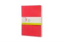 Moleskine Extra Large Volant Geranium Red/Scarlet Red Plain Journal, Paperback Book