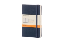 Moleskine Sapphire Blue Pocket Ruled Notebook Hard, Paperback Book