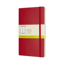 Moleskine Scarlet Red Large Plain Notebook Soft, Paperback Book