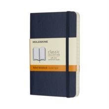 Moleskine Sapphire Blue Pocket Ruled Notebook Soft, Paperback Book