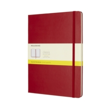 Moleskine Scarlet Red Extra Large Squared Notebook Hard, Paperback Book
