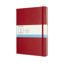 Moleskine Scarlet Red Extra Large Dotted Notebook Hard, Paperback Book