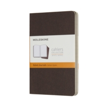 Moleskine Coffee Brown Pocket Ruled Cahier Journal (set Of 3), Paperback Book