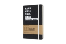 Moleskine Denim Notebook Limited Collection 'hand Wash Only' Large Ruled Notebook Hard, Paperback Book